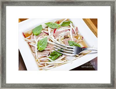 Ready To Serve Bowl Of Pho Bo Framed Print