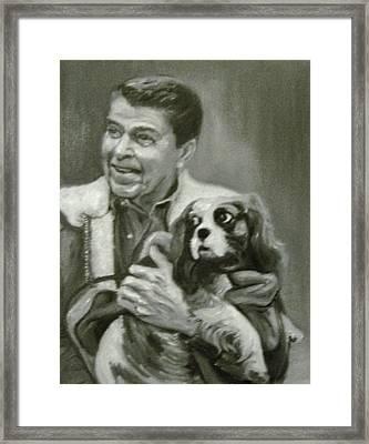 Reagan And Rex Framed Print by Martha Suhocke