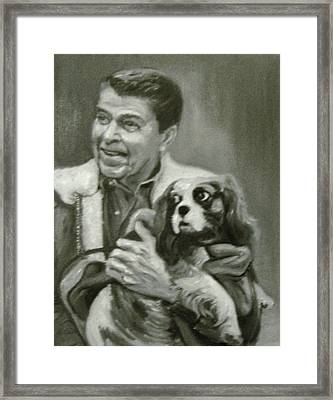 Reagan And Rex Framed Print
