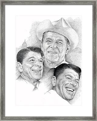 Reagan Framed Print by Richard Johns