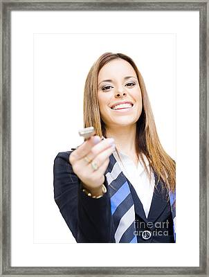 Real Estate Agent Framed Print by Jorgo Photography - Wall Art Gallery