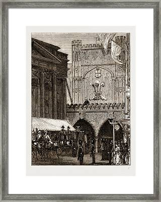 Reception Of The Prince Of Wales In The City Framed Print