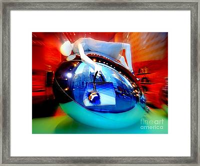 Reclining Woman Framed Print by Ed Weidman