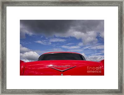 Red 57 Abstract Framed Print by Tim Gainey