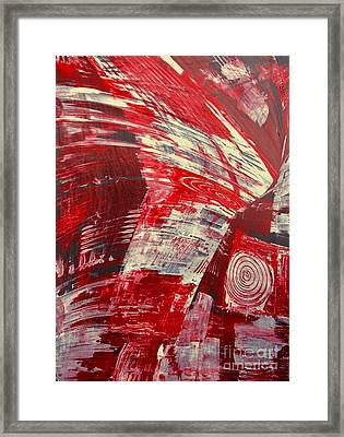 Red And White Framed Print by Gabriele Mueller