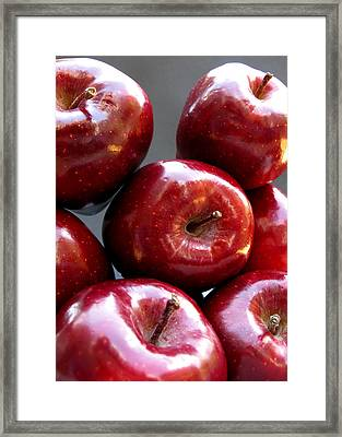 Framed Print featuring the photograph Red Apples by Helene U Taylor