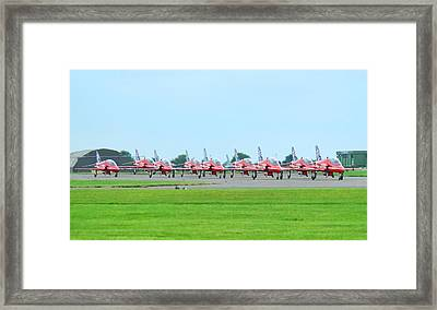 Red Arrows Framed Print by James Lucas
