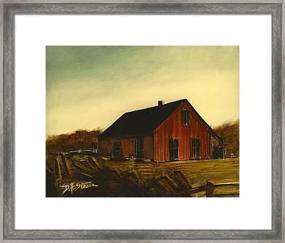 Red Barn   No. 3 Framed Print by Diane Strain
