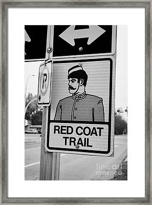 red coat trail highway 35 weyburn Saskatchewan Canada Framed Print