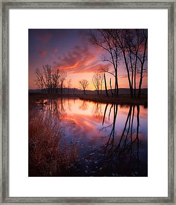 Red Dawn Framed Print by Ray Mathis