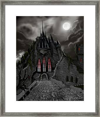Red Death Tower Framed Print