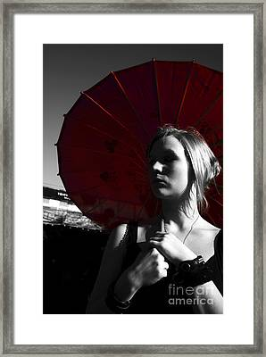 Red Fear Of Grey Days Framed Print by Jorgo Photography - Wall Art Gallery