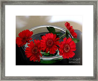 Red Flowers. Special Framed Print