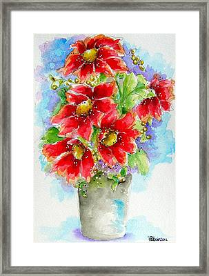 Framed Print featuring the painting Red Flowers by Patrice Torrillo