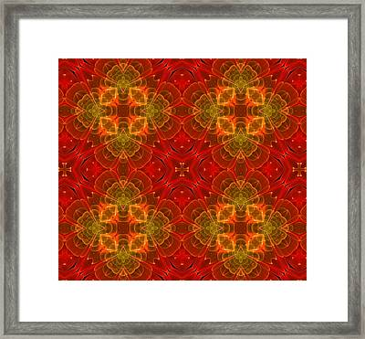 Red For Love Framed Print by Georgiana Romanovna