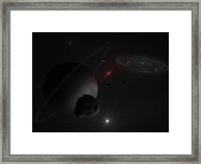 Red Giant 2 Framed Print by Ricky Haug