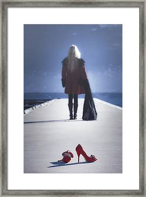 Red High Heels Framed Print by Joana Kruse