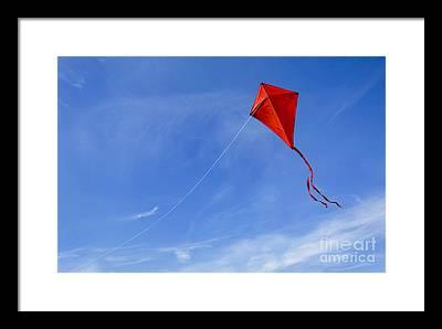 Flying A Kite Photographs Framed Prints