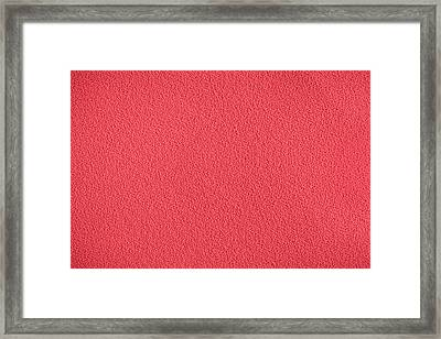 Red Material Framed Print by Tom Gowanlock