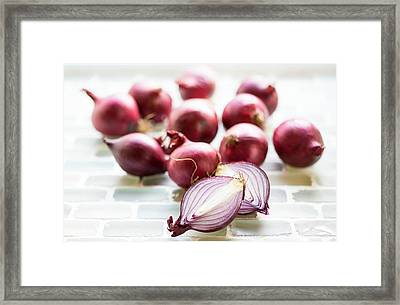 Red Onions Framed Print by Aberration Films Ltd