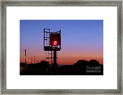 Red Railway Signal Framed Print