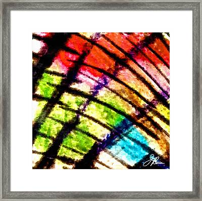 Red Reach Framed Print by Joan Reese