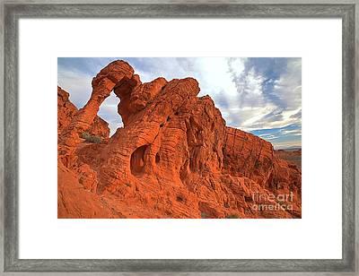 Nevada Red Rock Elephant Framed Print