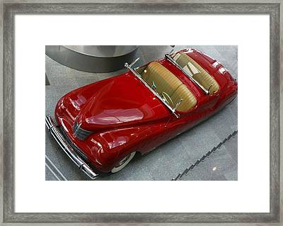 Framed Print featuring the photograph Red Rocket by Bill Woodstock