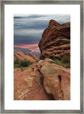 Red Rocks Colorado Sunset  Framed Print
