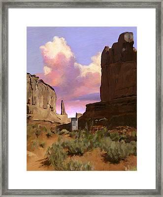 Red Rocks Framed Print by Snake Jagger