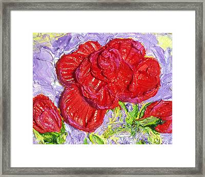 Red Rose Framed Print by Paris Wyatt Llanso