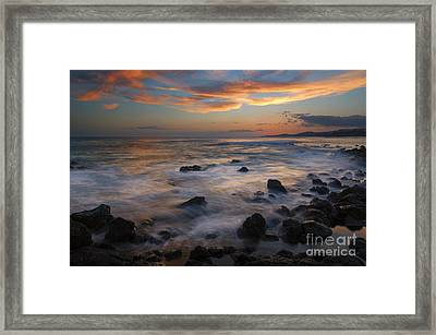 Red Sky Paradise Framed Print by Mike Dawson