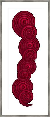 Red Spirals Framed Print