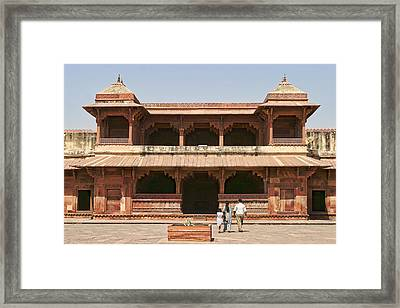 Red Stone Architecture Framed Print by Linda Phelps