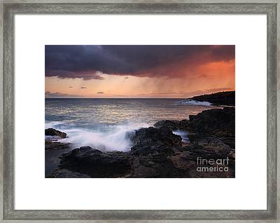 Red Storm Rising Framed Print by Mike  Dawson