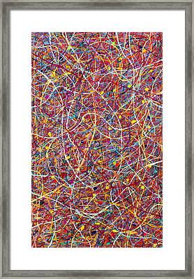 Red String Theory Framed Print by Patrick OLeary