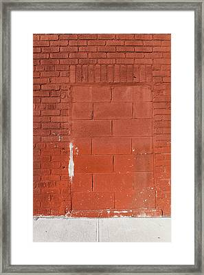 Red Wall With Immured Door Framed Print