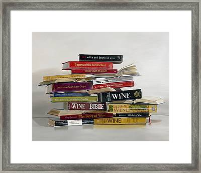 Red White And Drunk All Over Framed Print by Gail Chandler