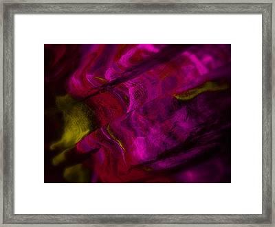 Red Wine Spill Framed Print by Dennis James