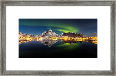 Reflected Aurora Framed Print by Alex Conu