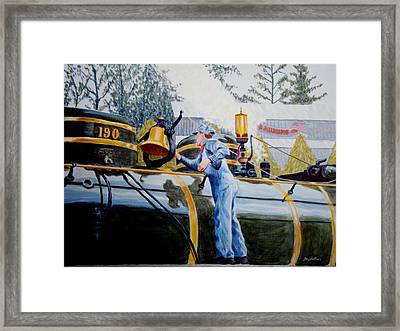 Framed Print featuring the painting Reflecting On Tweetsie by Stacy C Bottoms