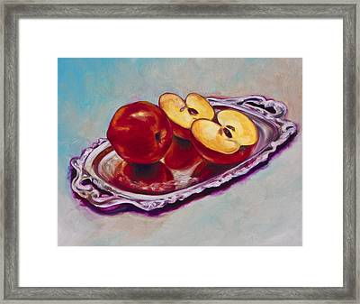 Reflecting Reds Framed Print by Eve  Wheeler