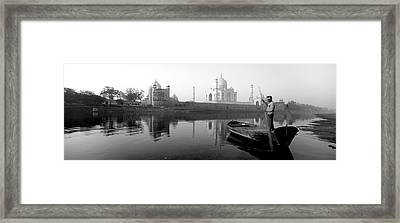 Reflection Of A Mausoleum In A River Framed Print by Panoramic Images