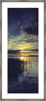 Reflection Of Clouds In A Lake, Lake Framed Print