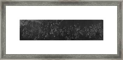 Reflection Of Soldiers Statues Framed Print by Panoramic Images