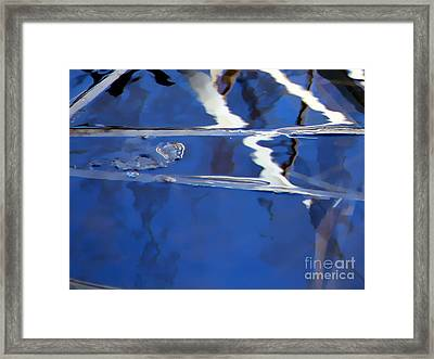 Reflections Blue Framed Print