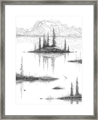 Reflections Framed Print by Carl Genovese