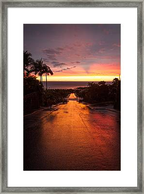 Sunset After Rain Framed Print