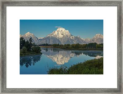 Reflections Of Mount Moran Framed Print