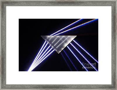Refraction And Internal Reflection Framed Print by GIPhotoStock